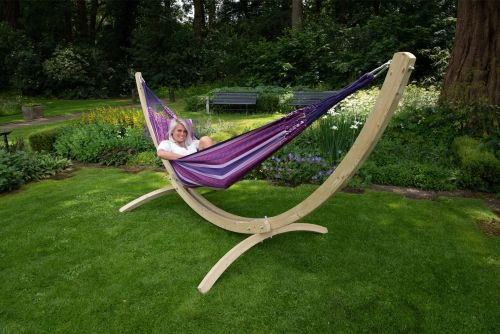 Wood & Chill Love Double Hammock with Stand