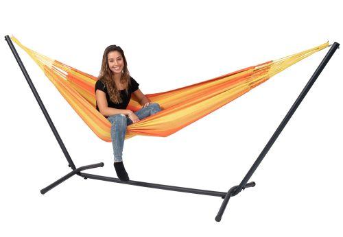 Easy & Dream Orange Single Hammock with Stand