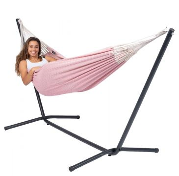 Easy & Natural Pink Single Hammock with Stand