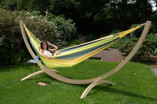 Wood & Refresh Cocktail XXL Hammock with Stand