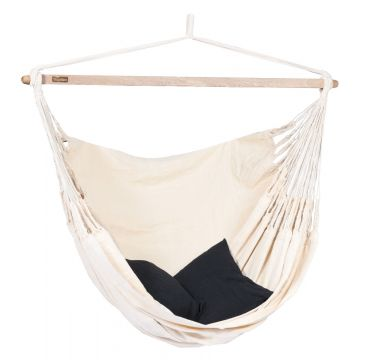 Luxe White Double Hanging Chair