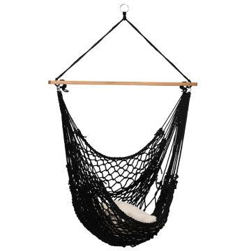 Rope Black Single Hanging Chair