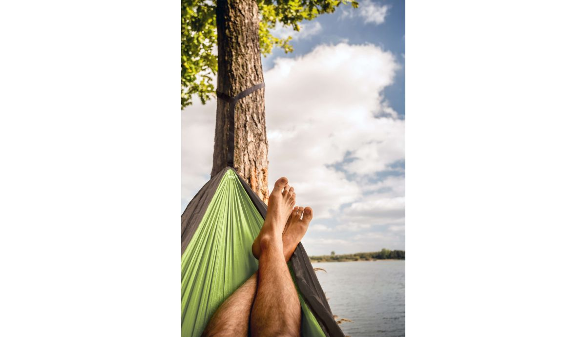 'Travel' Lime Double Camping Hammock