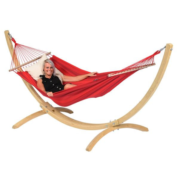'Relax' Red Single Hammock